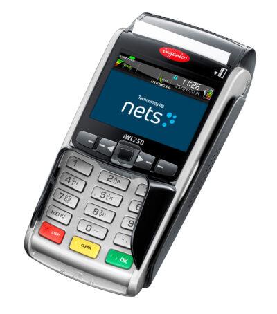 Nets iWL250 maksupääte kallistettu