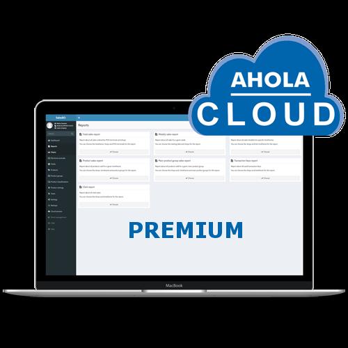 ahola cloud premium logo